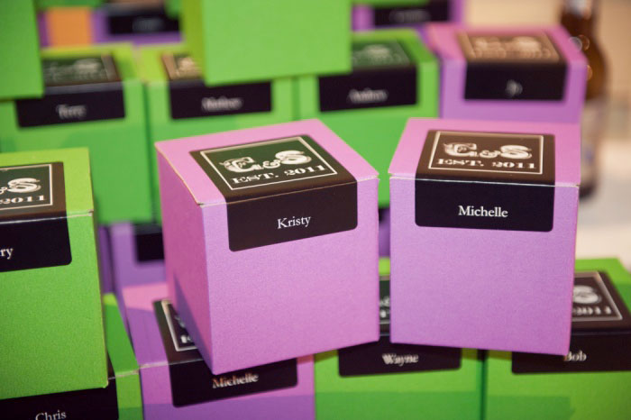 Guests were gifted with personal chocolates from Box of Treats
