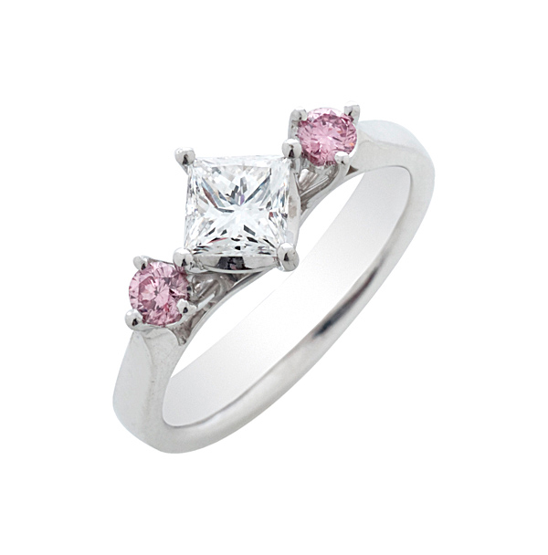 Enagagement ring with pink diamond-Arman's Fine Jewellery