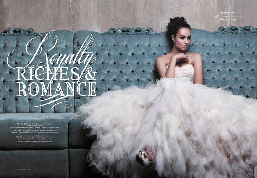 Royalty, Riches and Romance themed couture shoot