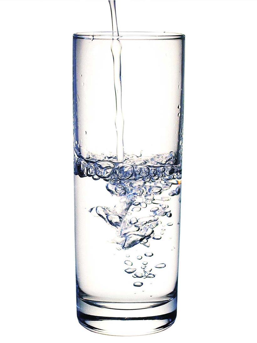 Drink lots of water before your wedding