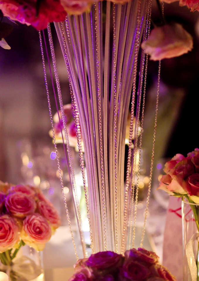 opulent rose table centres