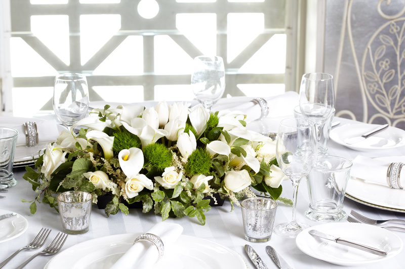 Styling ideas for White Wedding Flowers
