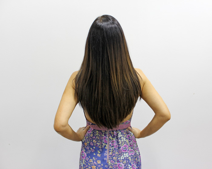 Great Lengths New GL Apps Tape Hair Extensions Review and Results - the Back
