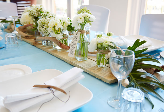 Wedding table styled by Dragonfly Floral Design