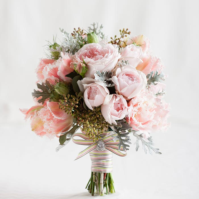 Pretty Wedding Bouquet by Ivy and Rose