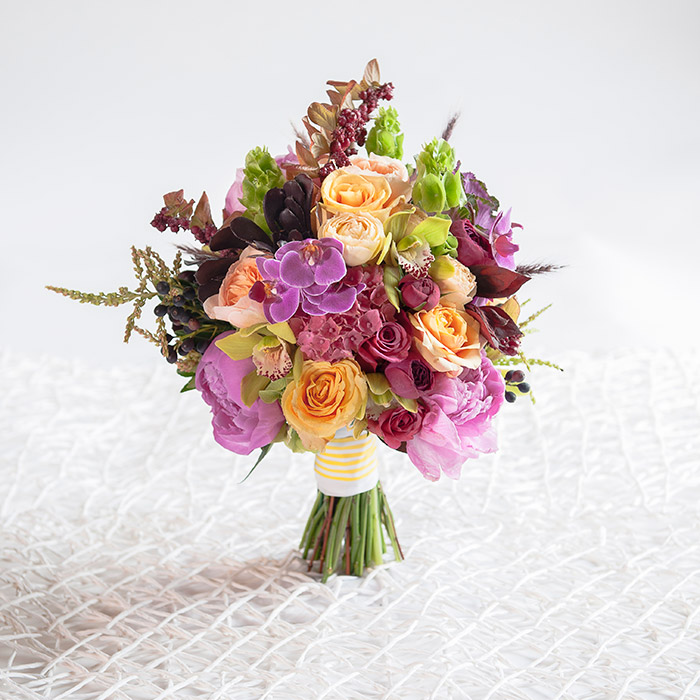Pretty Wedding Bouquet by Lilly Pad Flowers and Formals