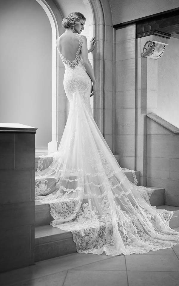 Martina Liana Wedding Dress Train
