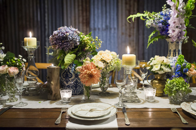 Rustic Wedding Table Styling