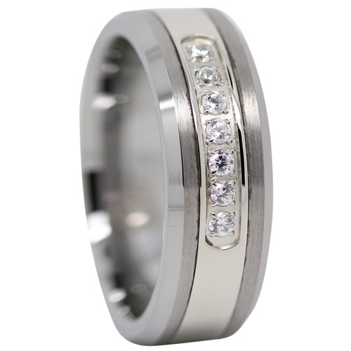 Tungsten Mens Engagement Ring