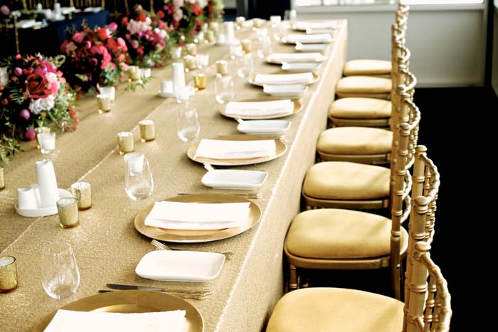 Wedding Table Setting by The Style Co.