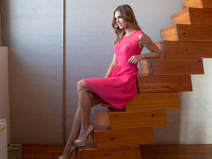 Colour By Kenneth Winston Pink Bridesmaids Dress