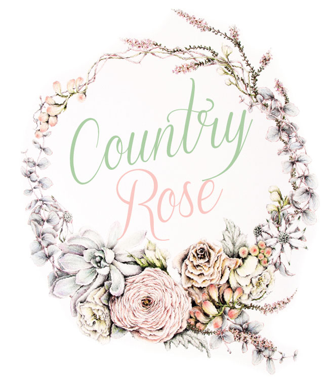 Country Rose Bridal Fashion Editorial
