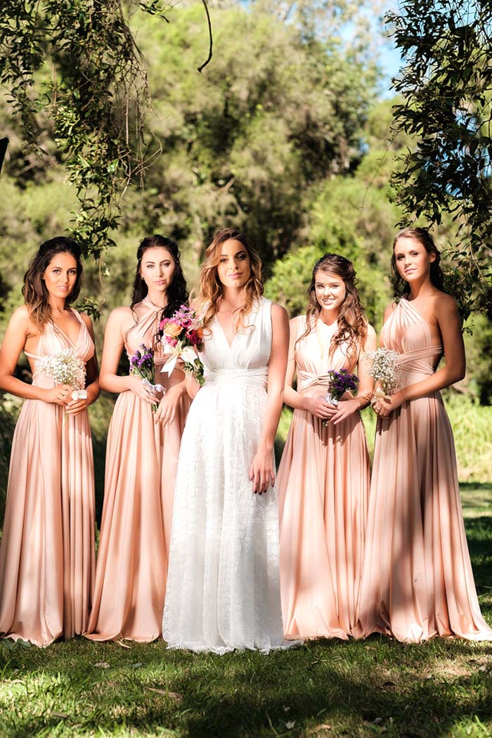 Goddess by Nature Wedding Dress and Bridesmaids Gowns