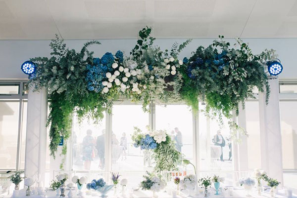 White Events Hanging Flowers