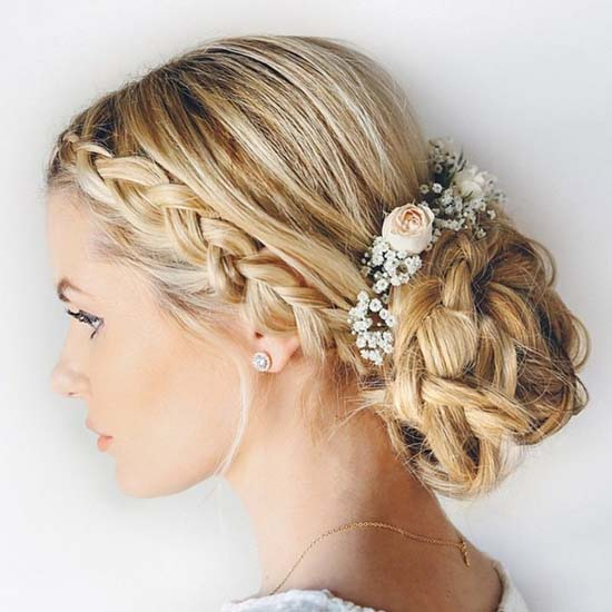 Wedding Hair by Amber Fillerup with Pantone